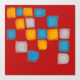 Primary Squares Canvas Print