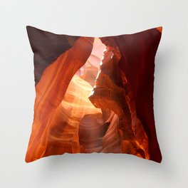 A Canyon Sculptured By Water Throw Pillow