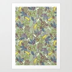 go green in spring Art Print