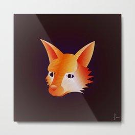 Red Little Fox Metal Print