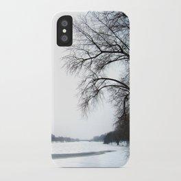 frozen lake. iPhone Case