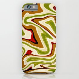Green and Brown Liquid Abstract  iPhone Case
