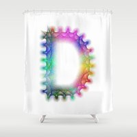 letter Shower Curtains featuring Letter D by David Zydd