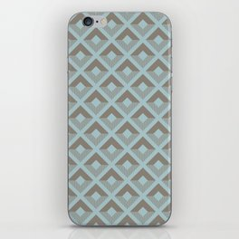 Two-toned square pattern iPhone Skin