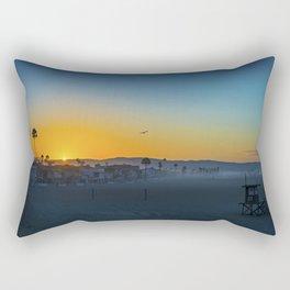Sunrise Seagull at Tower 20 Rectangular Pillow