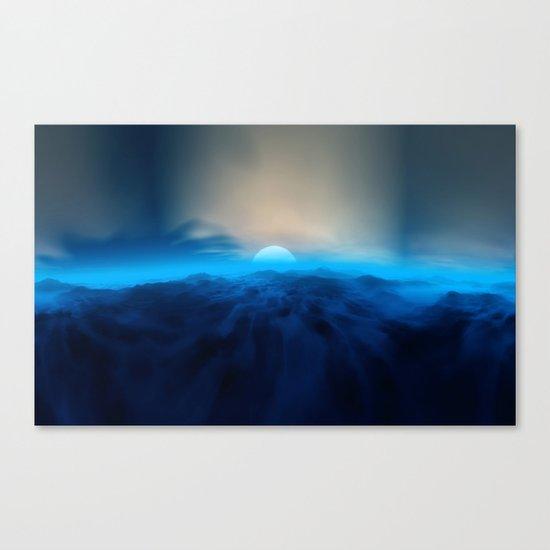 Blue #moon Canvas Print