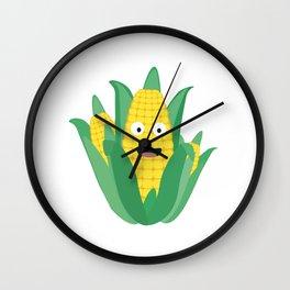 Cute Farmers Corn Wall Clock