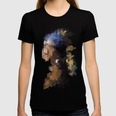Panelscape Iconic  - Girl with a Pearl Earring Womens Fitted Tee Black SMALL