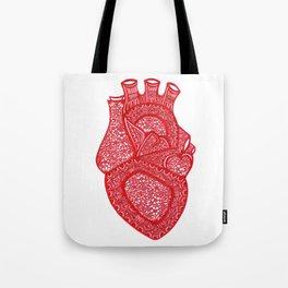 Anatomically Correct Heart Design Tote Bag