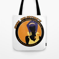 bebop Tote Bags featuring Bebop Faye by AngoldArts
