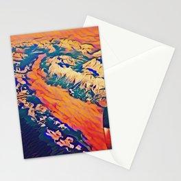 Alpine Overflight Stationery Cards