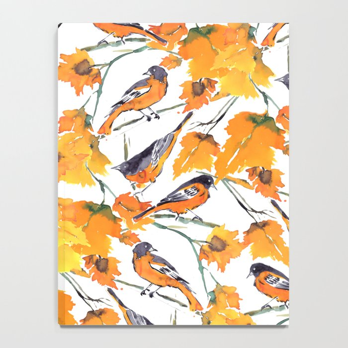 Birds in Autumn Notebook