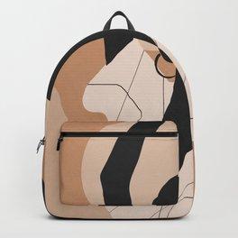 Minimal Abstract Art Sunset Girl 2 Backpack