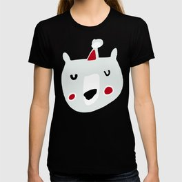Cute holiday bear white T-shirt