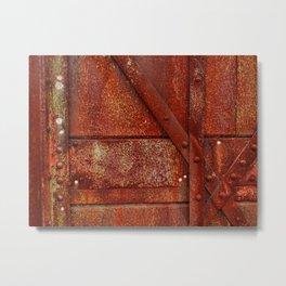 Rust Red Industrial Rivets Metal Print