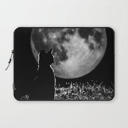 Lunar cat Laptop Sleeve