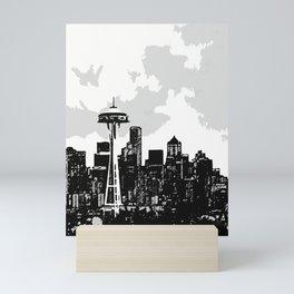 Seattle Sketch Mini Art Print