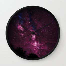 Pink Galaxy Sky Delight Wall Clock