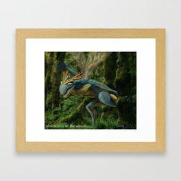Wondering in the woods... Framed Art Print