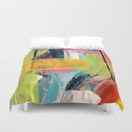 Hopeful[2] - a bright mixed media abstract piece Duvet Cover