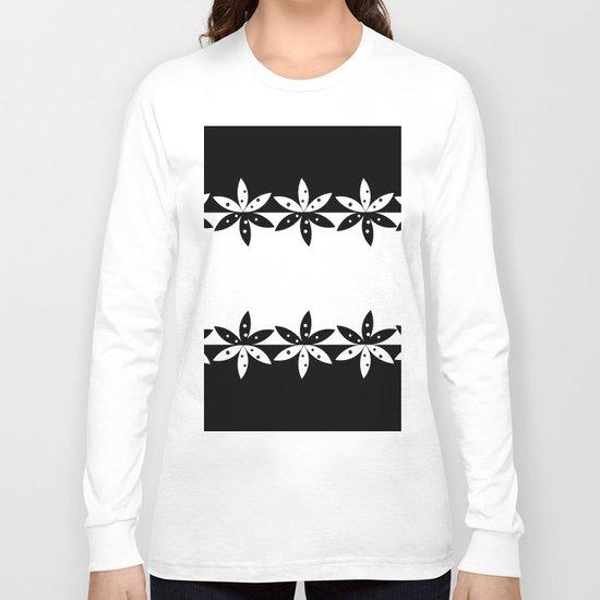BLACK A Long Sleeve T-shirt