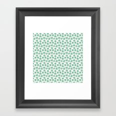 Four Leaf Clovers Framed Art Print