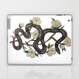 Floral Black Snake Laptop & iPad Skin
