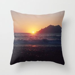 Crash into me - Romantic Sunset @ Beach #1 #art #society6 Throw Pillow