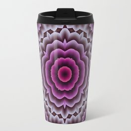 Purple abstract flowers kaleidoscope Travel Mug