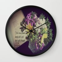 les miserables Wall Clocks featuring Books Les Miserables by KimberosePhotography