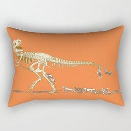 Run! T-rex! Run! Rectangular Pillow