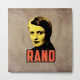 Ayn Rand Metal Print