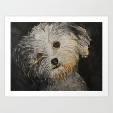 Because Dogs are Cute Art Print