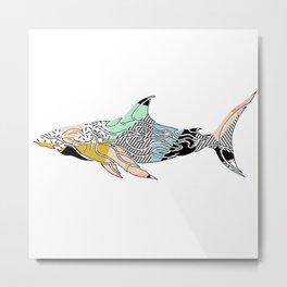 shark do do Metal Print