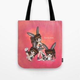 Bunny Love Spring Triplets Tote Bag