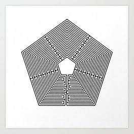 Pentagon Art Print