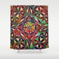 flower of life Shower Curtains featuring Flower of Life variation by Klara Acel