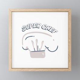 Super Chef Framed Mini Art Print