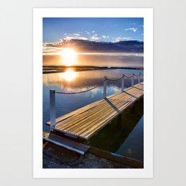 Sunrise Over Pool Art Print