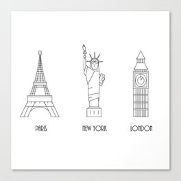 Three Cities Canvas Print
