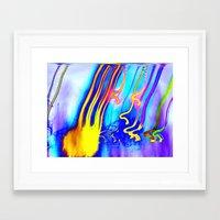 gorillaz Framed Art Prints featuring Jellyfish by Serena Gailey