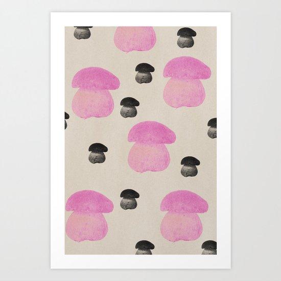 Mushroom pink Art Print