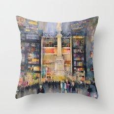 Time Warner Building, New York City Throw Pillow