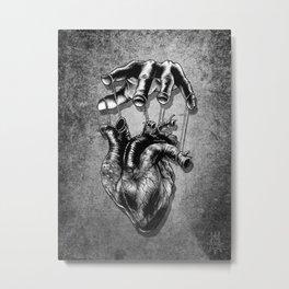 Strung Heart Metal Print