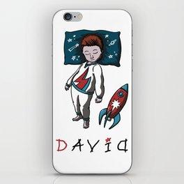 Sleeping artist DAVID iPhone Skin