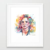 river Framed Art Prints featuring River by Alice X. Zhang