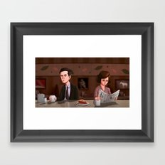 Twin Peaks Diner Framed Art Print