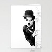 chaplin Stationery Cards featuring MR CHAPLIN by John Medbury (LAZY J Studios)