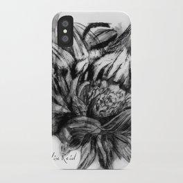 Watercolour Fashion Illustration Printmaking Portrait Sunflowers iPhone Case