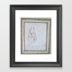 Demon by a 6 year old Framed Art Print